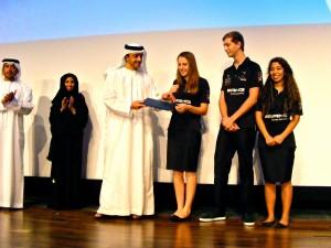 HH Sheikh Abdullah Bin Zayed Al Nahyan presenting the award