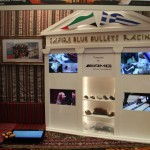 Safire Blue Bullets Pit Display