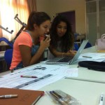 Nada and Dalia working